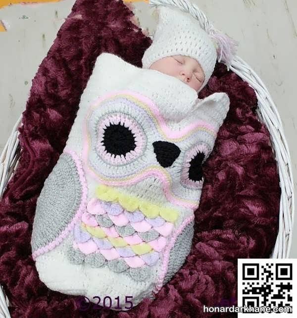 قنداق بافتنی نوزاد