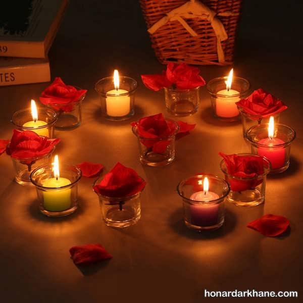 شمع آرایی در اتاق خواب منزل