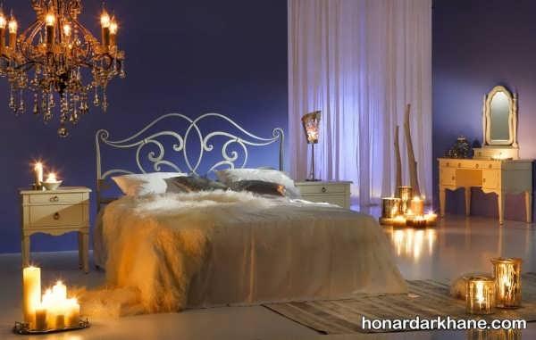 تزیین اتاق خواب باشمع