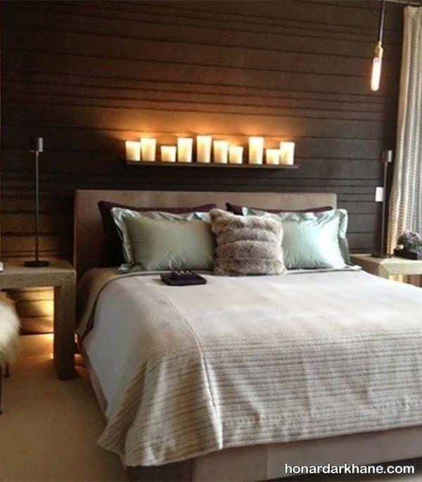 تزیین اتاق خواب با شمع