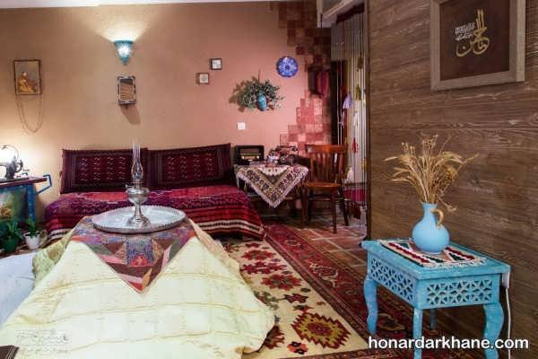 تزیین اتاق با وسایل سنتی