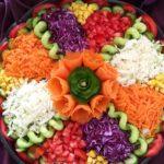 تزیین سالاد کلم و هویج