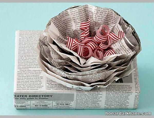 ساخت گل با روزنامه