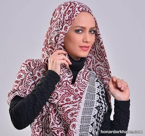 مدل روسری قواره دار