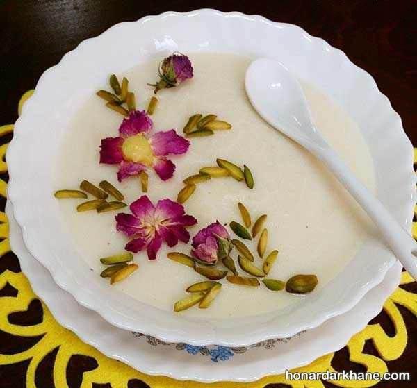 تزیین ظرف شیر برنج