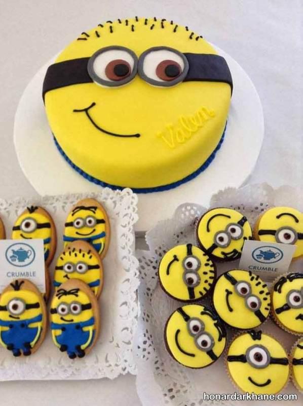 تزیین کاپ کیک مینیون