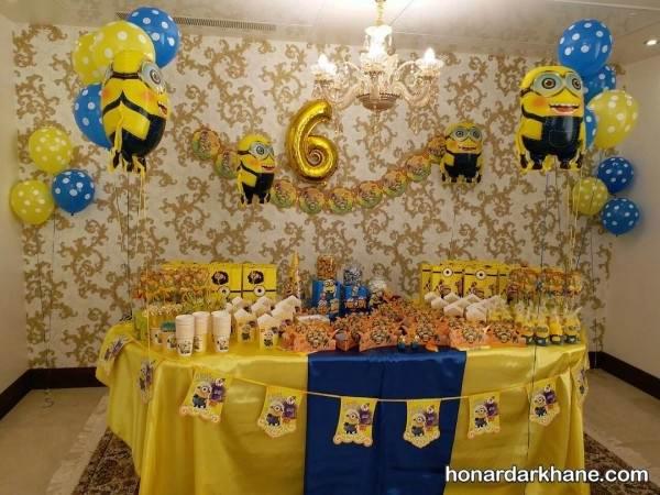 تزیین اتاق تولد با تم مینیون ها