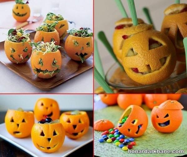 خلاقیت جالب با پرتقال