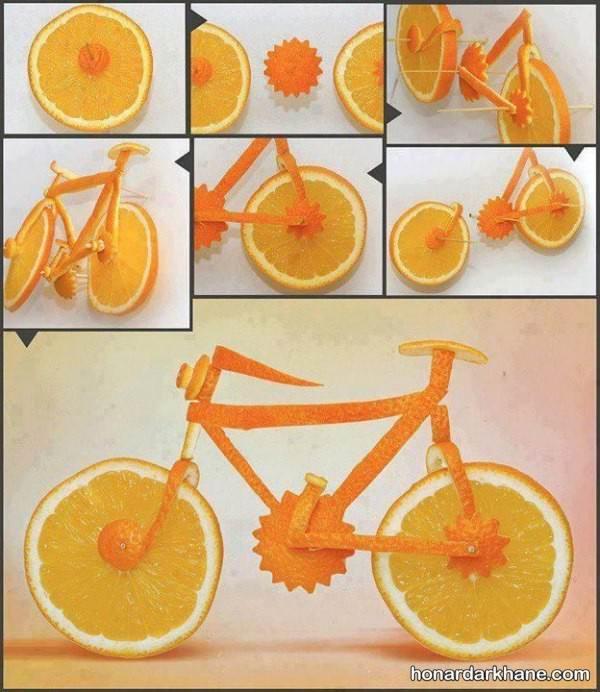تزیین میوه پرتقال