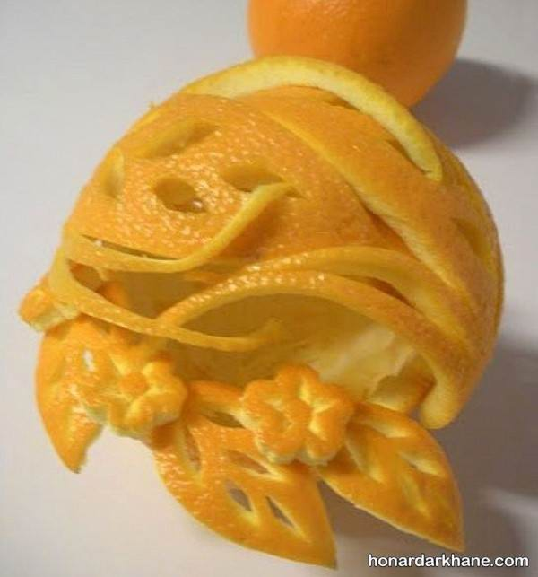 تزیین زیبای پرتقال
