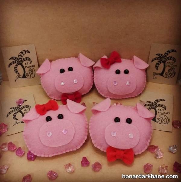 خوک با نمد برای هفت سین