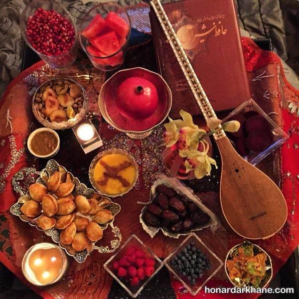 تزیینات شب یلدا برای عروس