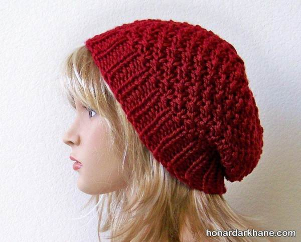 کلاه بافتنی ساده