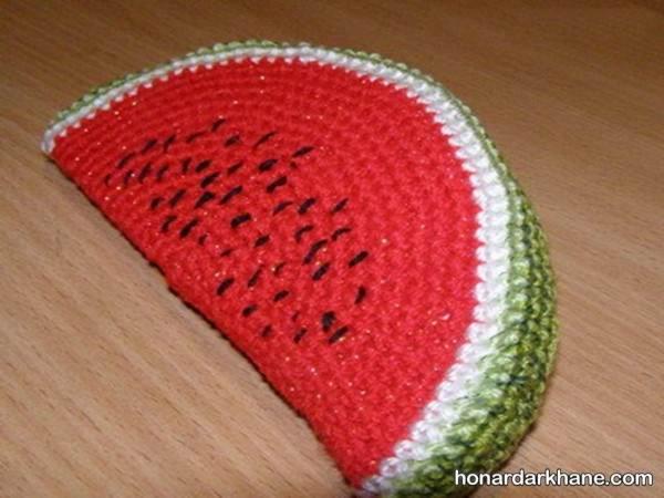 هندوانه بافتنی ساده