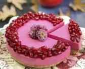 طرز تهیه چیز کیک انار برای شب یلدا + ایده های تزیین کیک انار