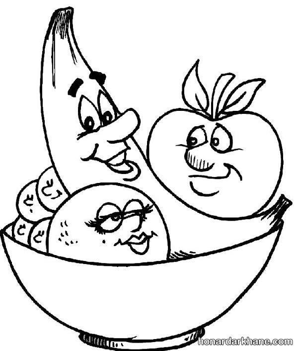 مدل نقاشی میوه های پاییزی