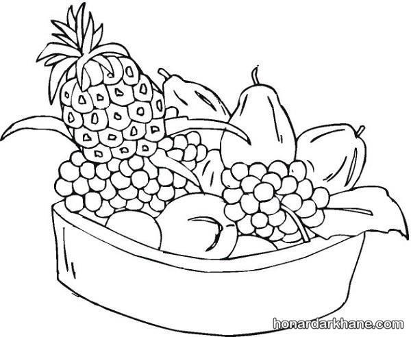 سبد میوه های پاییزی