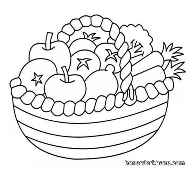 نقاشی میوه برای پاییز
