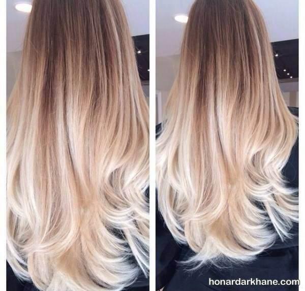 رنگ موی دو رنگ جدید