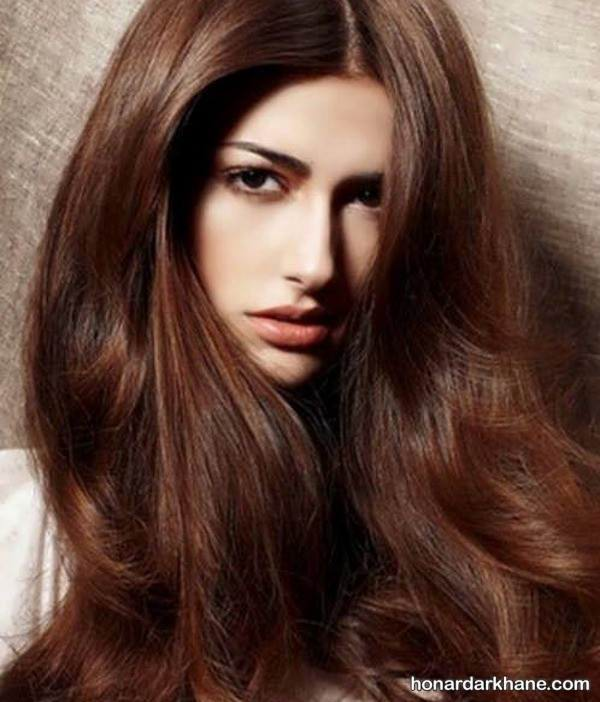رنگ مو جدید قهوه ای