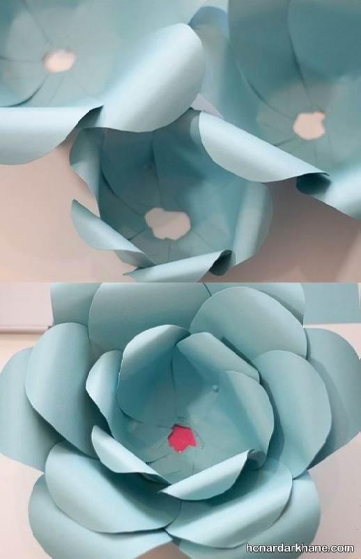ساخت گل با کاغذ رنگی