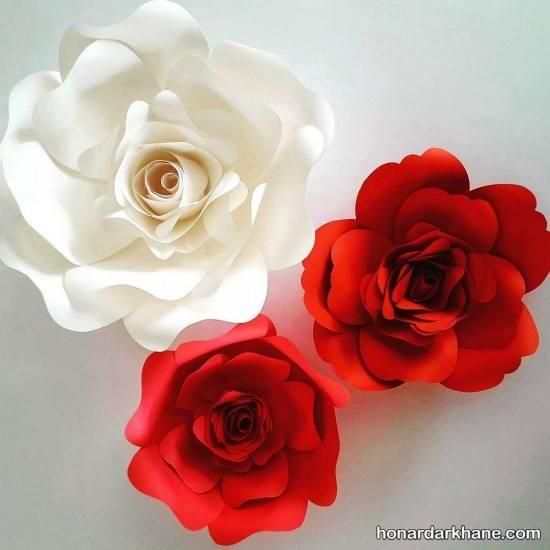 ساختن گل با مقوا و کاغذ رنگی
