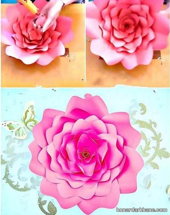 ساخت گل های زیبا