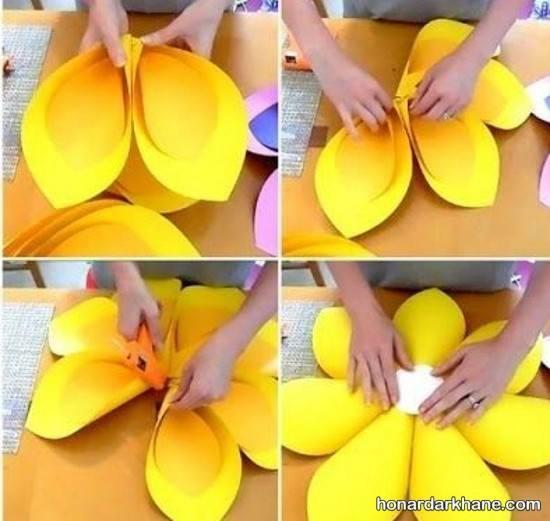 ساختن گل با کاغذ