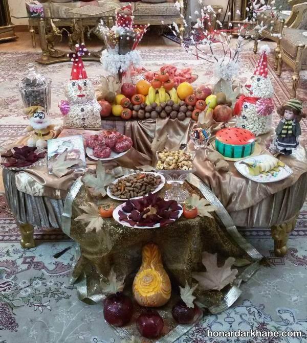 تزیین شب یلدایی عروس و داماد