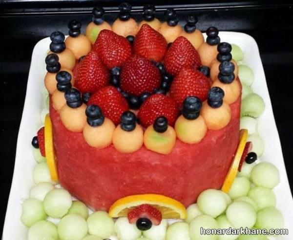 تزیین ساده هندوانه