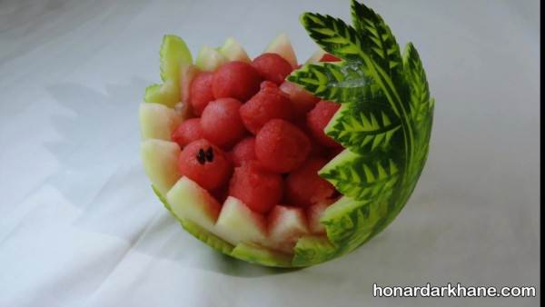تزیین شیک هندوانه