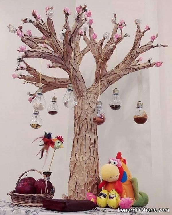 هفت سین با تنه درخت