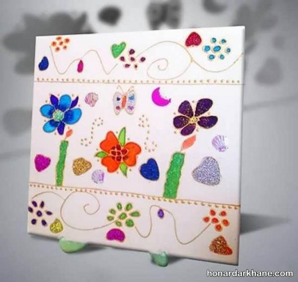آموزش نقاشی ویترای روی کاشی