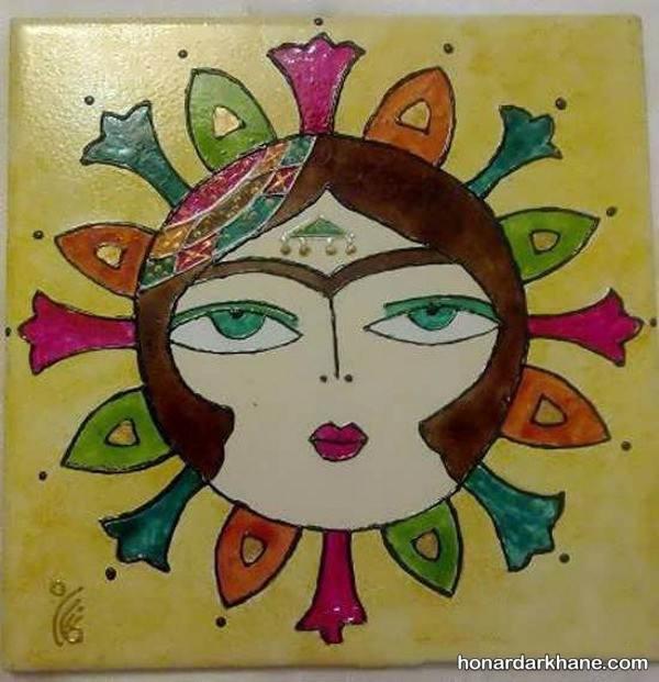 مدل نقاشضی روی سرامیک و کاشی