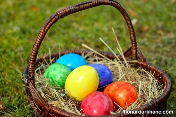 سبد تخم مرغ رنگی 98