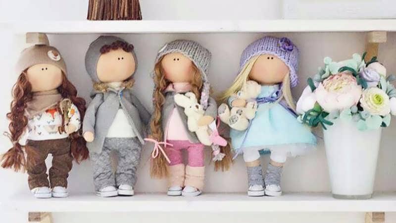 ساخت عروسک روسی دختر و پسر با الگو
