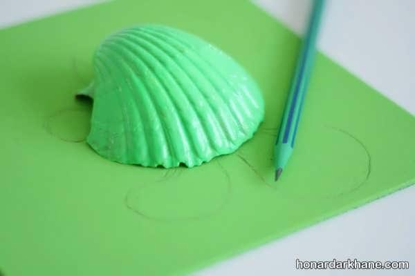ساخت کاردستی کودک با استفاده از صدف