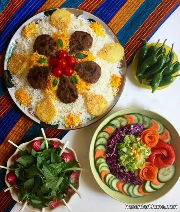 ایده های نو برای تزئین سفره غذا