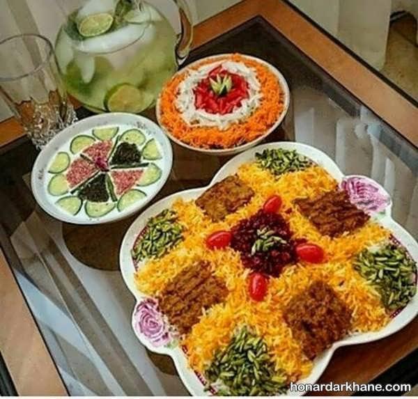 انواع تزئین سفره غذا