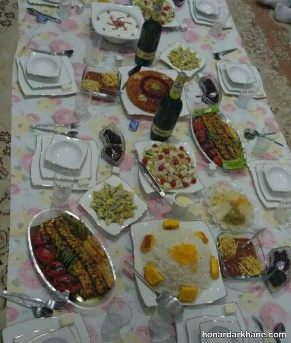 تزئینات زیبا سفره غذا