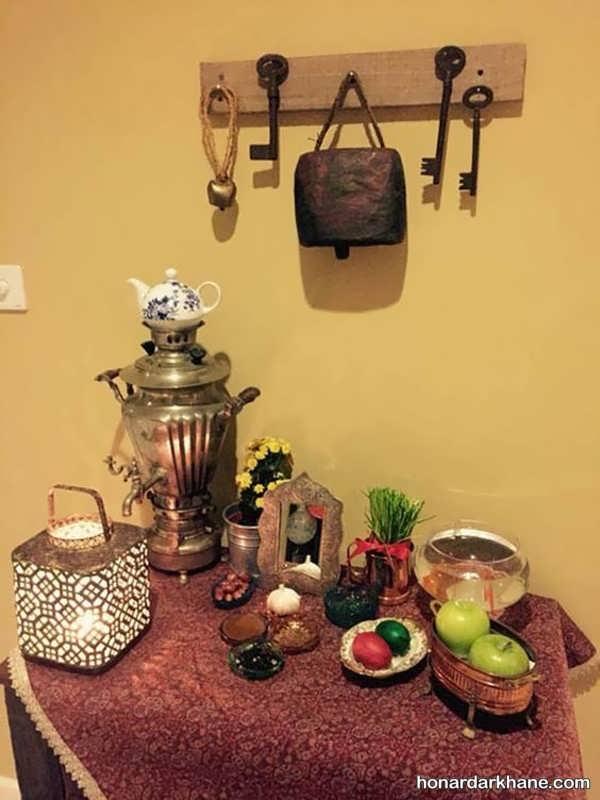 تزیین هفت سین با وسایل سنتی