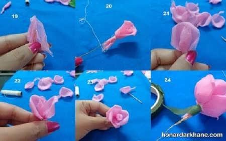 روش ساخت گل رز توری
