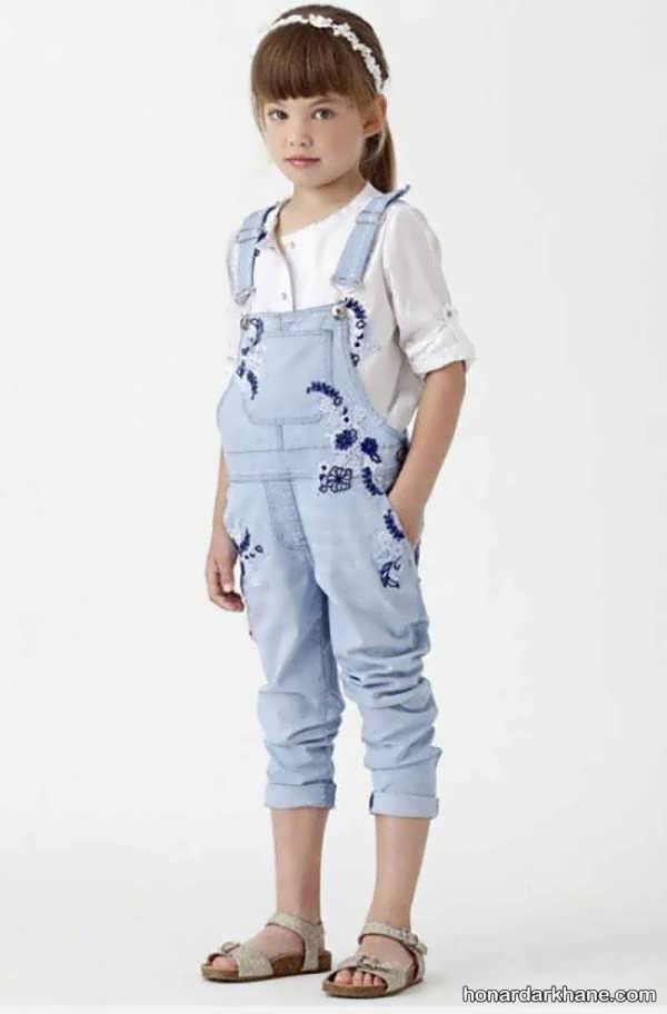 مدل شلوار لی پیش بندی بچگانه