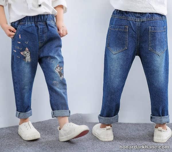 مدل جدید شلوار جین بچگانه