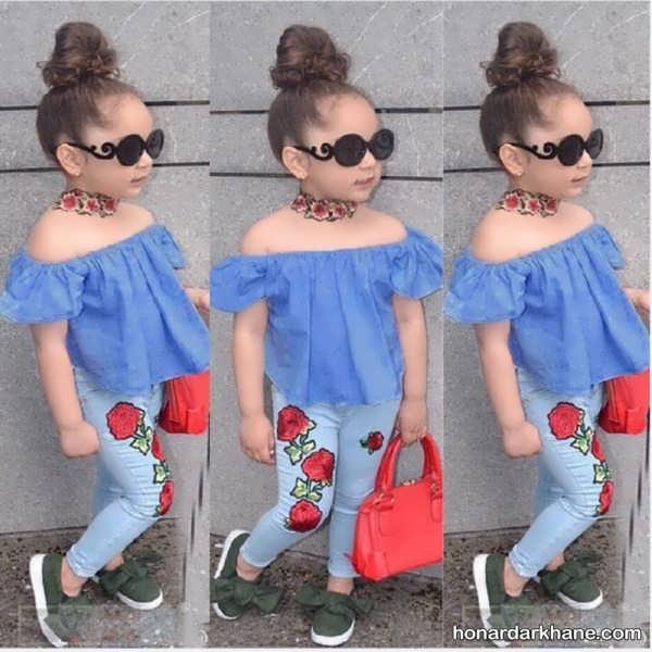 مدل های متفاوت شلوار جین بچگانه