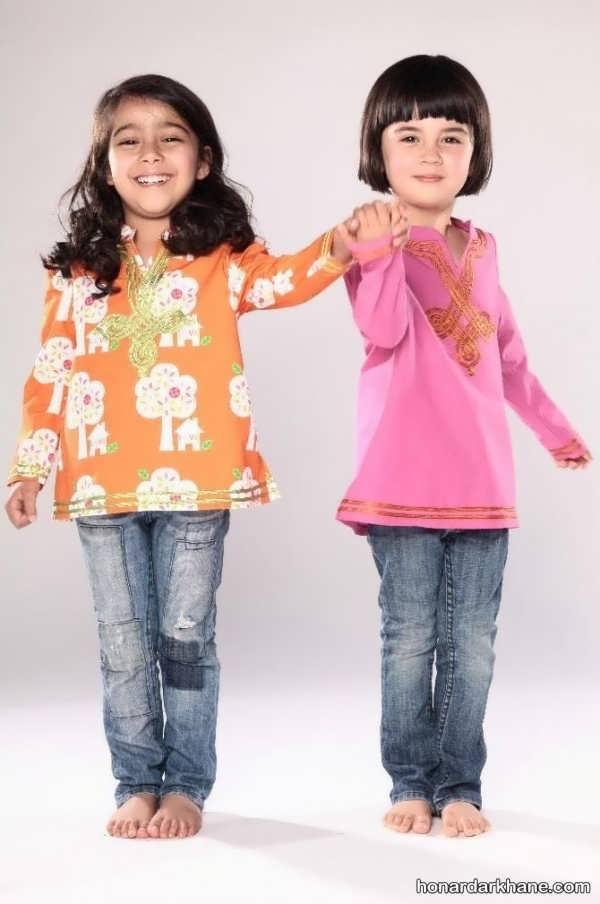 شلوار جین بچگانه با رنگ های مختلف