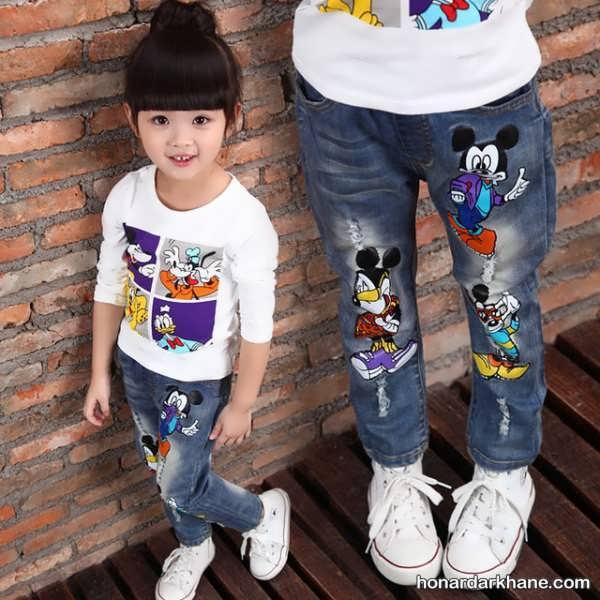 انواع مدل شلوار جین بچگانه