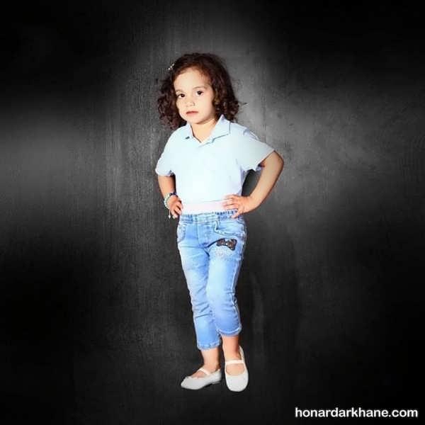 مدل شلوار جین بچگانه برای دختر بچه ها