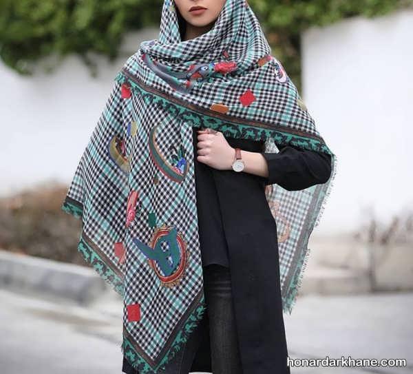 طراحی جدید و زیبا روسری 98