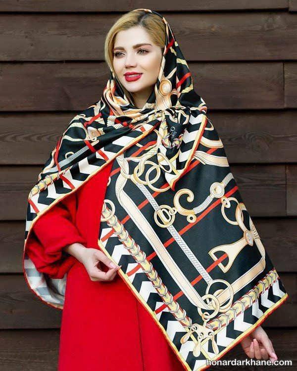 زیباترین مدل روسری های 98